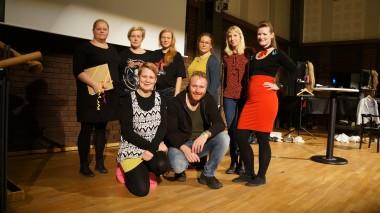 Skådespelare, paneldeltagare och aggangörer